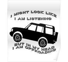 Listening but Off-Road Poster