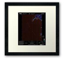 USGS TOPO Map Alaska AK Craig B-6 355278 2000 63360 Inverted Framed Print