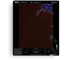 USGS TOPO Map Alaska AK Craig B-6 355278 2000 63360 Inverted Canvas Print
