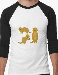 Squirrels with an Acorn Men's Baseball ¾ T-Shirt