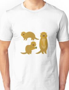Squirrels with an Acorn Unisex T-Shirt