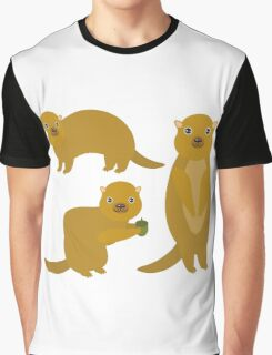 Squirrels with an Acorn Graphic T-Shirt