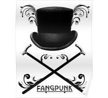 Top Hat and Canes T Shirt Black Poster