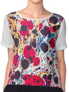 Psychedelic Vintage Marbled Paper Pepe Psyche Chiffon Top