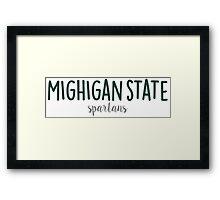 Michigan State University Framed Print
