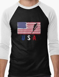 USA Ski jumping 2016 competition alpine skiing funny t-shirt Men's Baseball ¾ T-Shirt