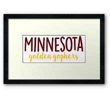 University of Minnesota Framed Print