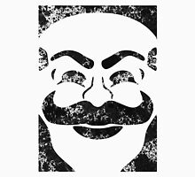 F-Society Mask - Black Splattered (on white) Unisex T-Shirt