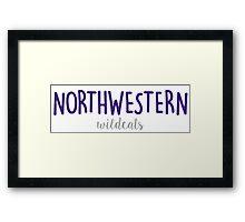 Northwestern University Framed Print