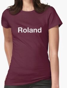 Roland white Womens Fitted T-Shirt