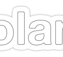 Roland white Sticker