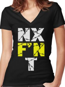 N X F'N T Women's Fitted V-Neck T-Shirt