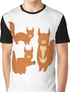 Fluffy Squirrels Graphic T-Shirt