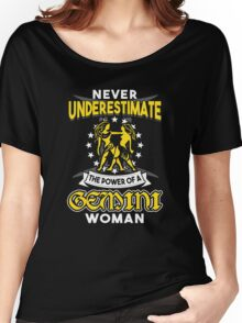 Never Underestimate A Gemini Women's Relaxed Fit T-Shirt