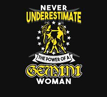 Never Underestimate A Gemini Womens Fitted T-Shirt