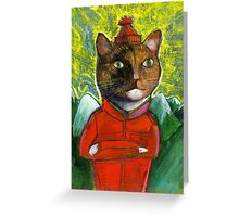 The Red Cat Greeting Card