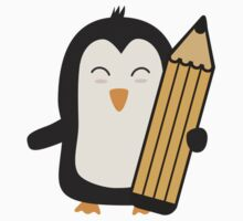 Penguin with pen   Kids Tee