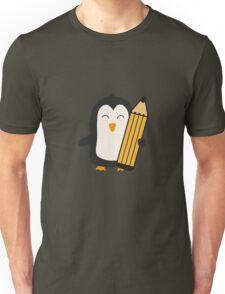 Penguin with pen   Unisex T-Shirt