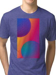 Geodesic Neon Spheres 1 Tri-blend T-Shirt