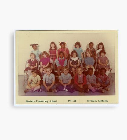 1971-1972, WESTERN ELEMENTARY SCHOOL, HICKMAN, KENTUCKY Canvas Print