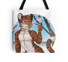 Cherry Blossom Tiger Tote Bag