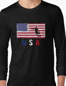 USA Soccer 2016 competition football first 11 funny t-shirt Long Sleeve T-Shirt