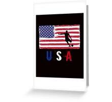 USA Soccer 2016 competition football first 11 funny t-shirt Greeting Card