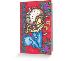 Blue Freeze Pop Greeting Card