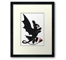 Toothless Heraldry Framed Print