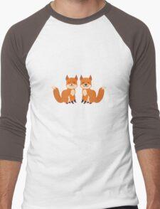 Cute Foxes Men's Baseball ¾ T-Shirt