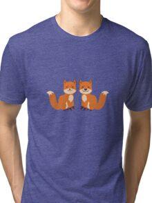Cute Foxes Tri-blend T-Shirt
