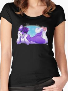Purple Husky  Women's Fitted Scoop T-Shirt