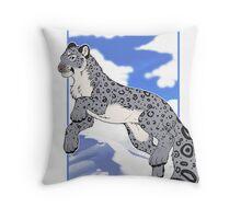 Mountain Snow Leopard Throw Pillow