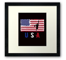 USA Swimming 2016 competition freestyle funny t-shirt Framed Print