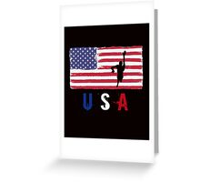 USA Swimming 2016 competition freestyle funny t-shirt Greeting Card