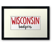 University of Wisconsin Framed Print
