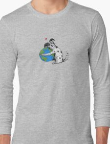 "Australian Cattle Dog, Blue Heeler, ""Love-Earth"" Long Sleeve T-Shirt"