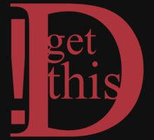 Get This D! red by Luwee