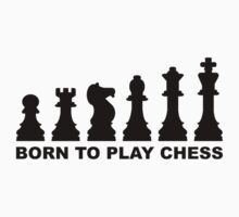 Born to play chess evolution Kids Tee