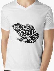 Tribal Frog Mens V-Neck T-Shirt