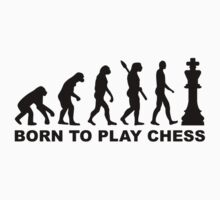 Evolution born to play chess One Piece - Short Sleeve