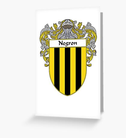 Negron Coat of Arms/Family Crest Greeting Card
