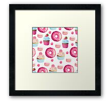Pink Strawberry Sweets & Treats Framed Print
