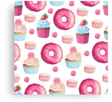 Pink Strawberry Sweets & Treats Canvas Print