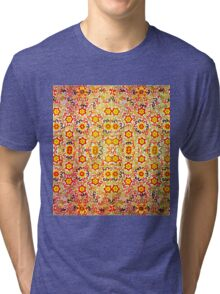 FLOWER DESIGN 4 PATTERN Tri-blend T-Shirt