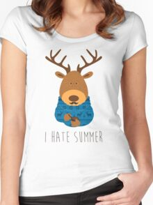 I hate summer Women's Fitted Scoop T-Shirt