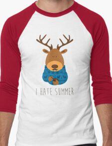 I hate summer Men's Baseball ¾ T-Shirt