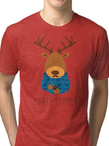 I hate summer Tri-blend T-Shirt
