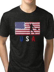 USA Tennis 2016 competition hard clay court funny t-shirt Tri-blend T-Shirt