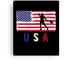 USA Tennis 2016 competition hard clay court funny t-shirt Canvas Print